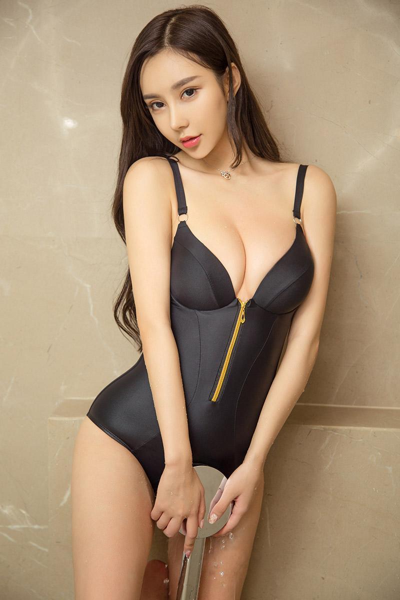 萌妹子安柔低胸内衣写真图片性感爆棚[43P]