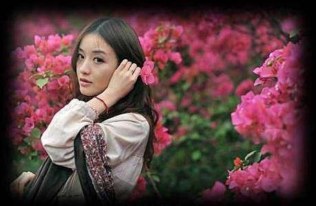 三月的女子,盛开的花