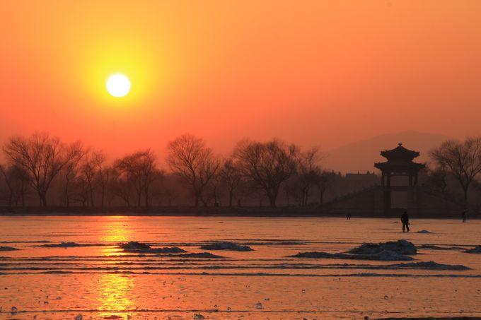 夕阳下的冬语